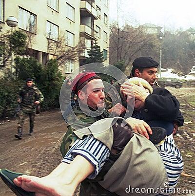 BOSNIAN CIVIL WAR Editorial Photography
