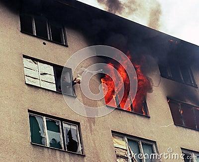 BOSNIAN CIVIL WAR Editorial Stock Image