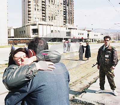 BOSNIAN CIVIL WAR Editorial Stock Photo