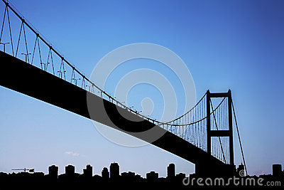 Bosporus Bridge connecting Europe and Asia