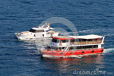Bosporus Tour boat Editorial Stock Photo