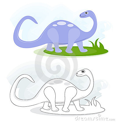 Bosquejos con el dinosaurio del brontosaurus