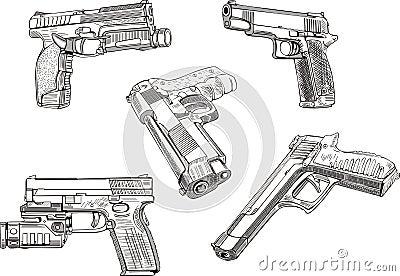 Bosquejos del arma