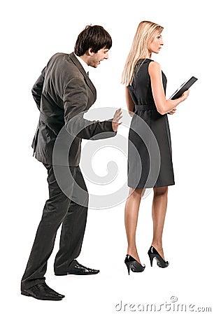 Boss is accosting secretary