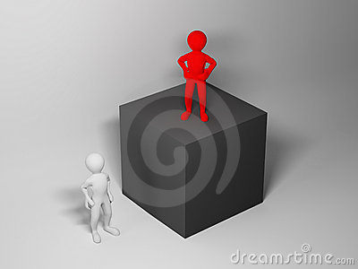 Boss and employee. abstract illustration