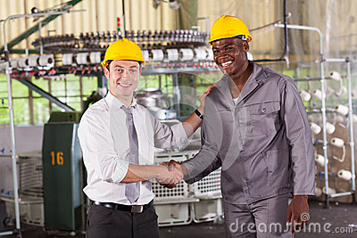 Boss praising worker