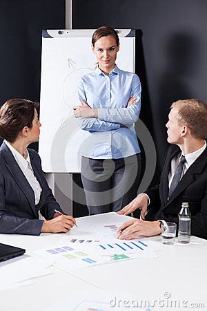 Free Bossy Businesswoman Stock Photography - 51090542