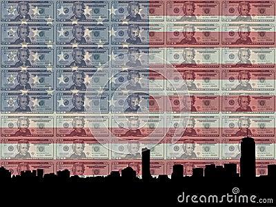 Boston with 20 dollar bill