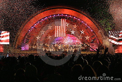 Boston 4th of July Celebration Editorial Stock Image