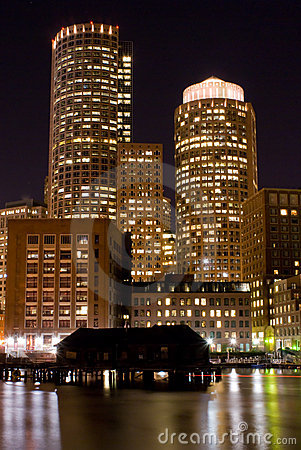 Free Boston At Night Stock Photography - 6559192