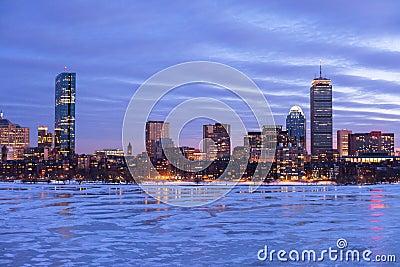 Boston Back Bay at dawn