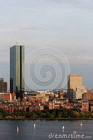 Free Boston Back Bay With The John Hancock Tower Stock Photo - 23530270