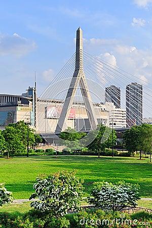 Boston bridge Editorial Stock Image