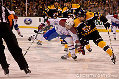 Boston Bruins, Montreal Canadiens rivalry NHL game Editorial Image