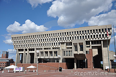 Boston City Hall, downtown Boston