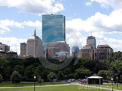 Boston City Skyline from the Common