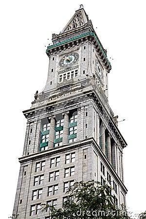 Free Boston Clocktower Isolated On White Royalty Free Stock Photo - 38127405