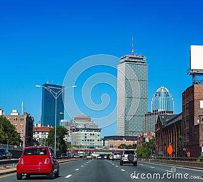 Free Boston Downtown Street Traffic Massachusetts Stock Image - 52237171