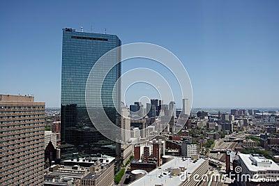 Boston downtown view
