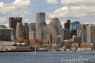 Boston Harbor and Cityscape