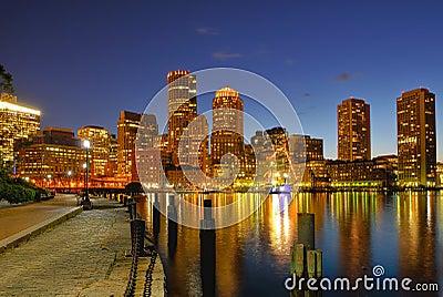 Boston Harbor and Cityscape