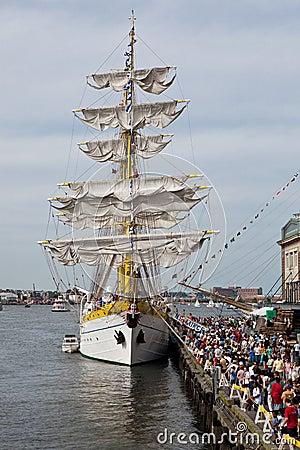 BOSTON - JULY 11: Sail Boston, Tall Ships Editorial Stock Photo