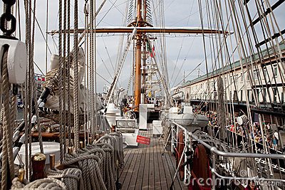 BOSTON - JULY 11: Sail Boston, Tall Ships Editorial Stock Image