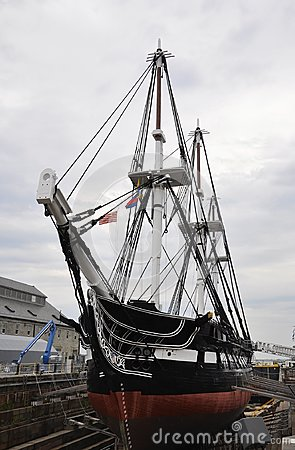Free Boston Ma, 30th June: USS Constitution Frigate From Charlestown Shipyard Boston In Massachusettes State Of USA Stock Photo - 107713660