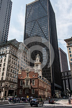 Free Boston, MA, USA 06.09.2017 Old State House Downtown Financial District Oldest Surviving Public Building Boston Massacre Stock Image - 106707651