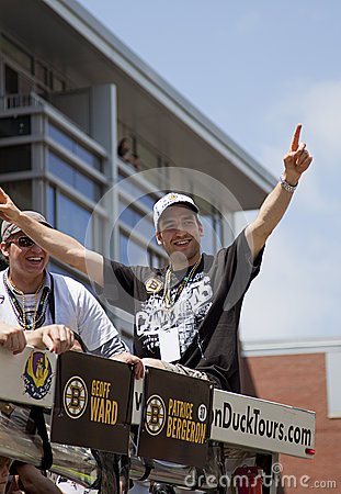 Free BOSTON, MA, USA - JUNE 18: Patrice Bergeron Celebrates The Stanley Cup Victory At The Boston Bruins Parade After Winning The Cup F Royalty Free Stock Photography - 31626367