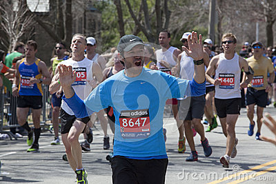 Boston Marathon 2014 Editorial Stock Photo