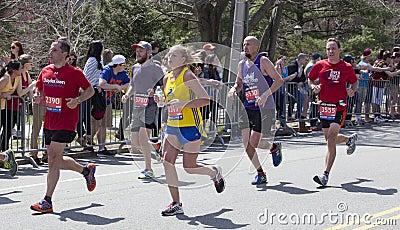 Boston Marathon 2014 Editorial Stock Image