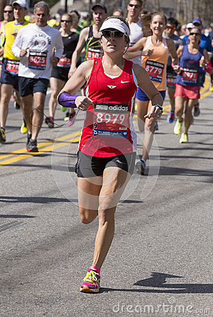 The Boston Marathon 2014 Editorial Photo