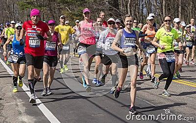 The Boston Marathon 2014 Editorial Photo