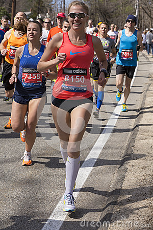 The Boston Marathon 2014 Editorial Stock Image