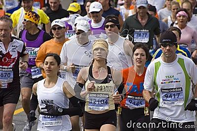 Boston Marathon Runners Editorial Image