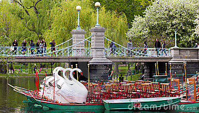 Boston Public Garden in the Spring Editorial Photography