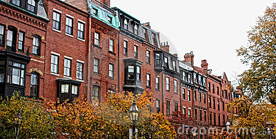 Boston row houses