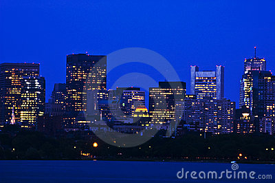 Boston s Financial Distric in the Evening