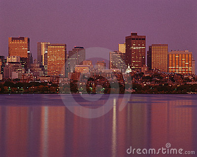 Boston skyline Editorial Stock Image