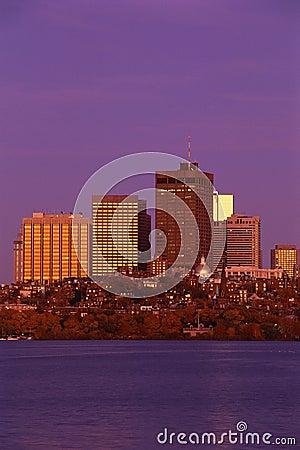 Boston skyline Editorial Stock Photo