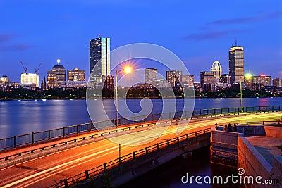 Boston Skyline and Memorial Drive