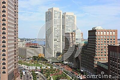 Boston Skyline office buildings