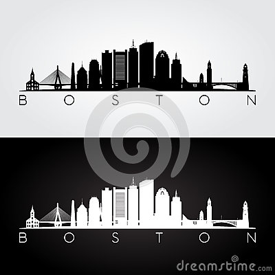 Free Boston Skyline Silhouette Royalty Free Stock Photography - 80425707