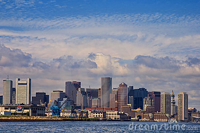 Boston Skyline with Word Trade Center