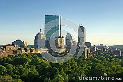 Boston spring sunset