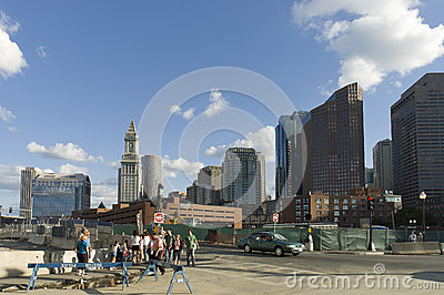 Boston street scene Editorial Stock Photo