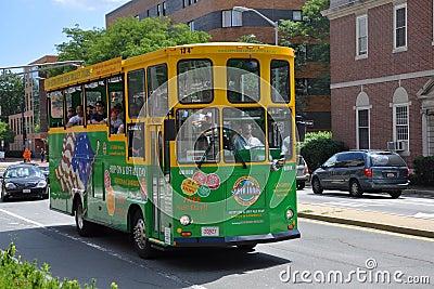 Boston Super Tour Bus Editorial Photography