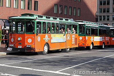 Boston Tourist Trolley Editorial Photography