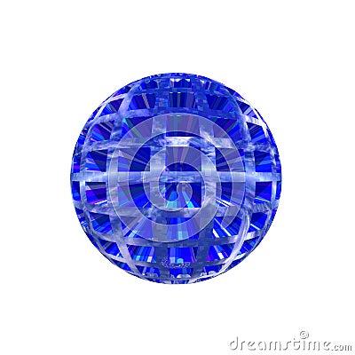 Botão de Sherical 3D